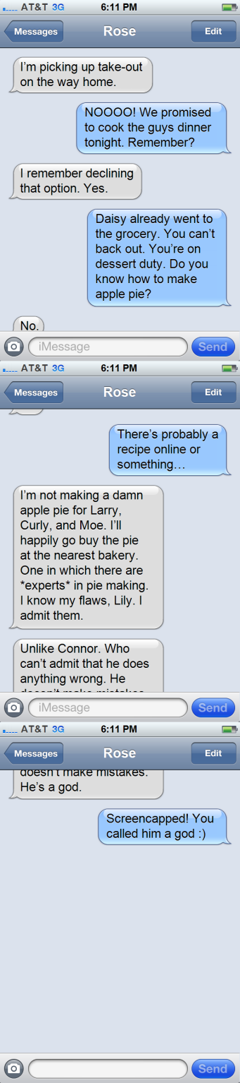 GP - Text Message Lily to Rose - Part One