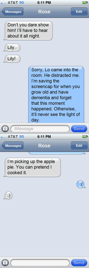 GP - Text Message Lily to Rose - Part Two